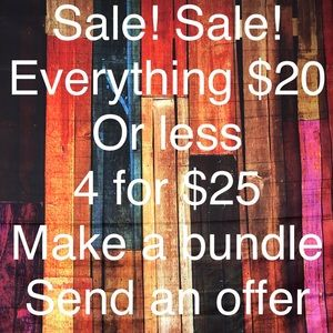 Tops - Bundle 4 items $20 or less for $25